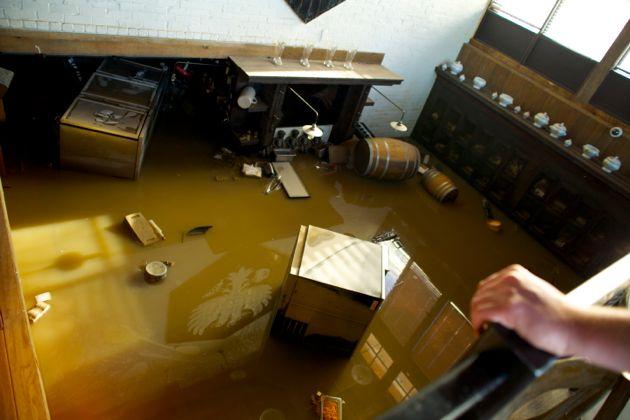 Calgary Flood - Wurst Pub flooded 4th Street Mission Area