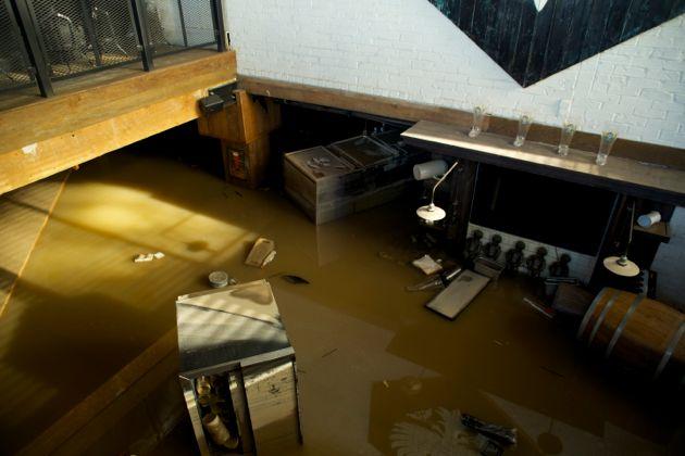 Calgary Flood Wurst Pub 4th Street downtown