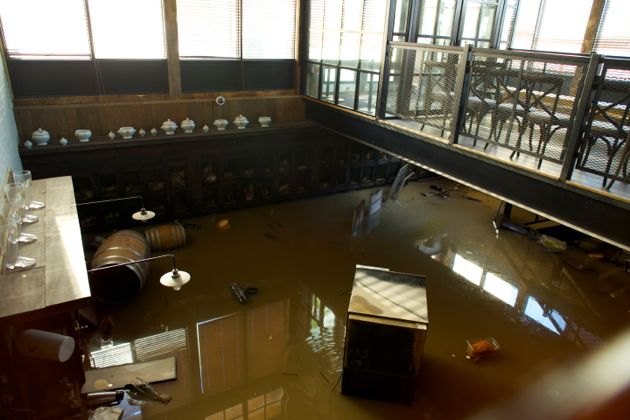 Calgary Flood Aftermath, Wurst Pub Downtown Mission, Calgary Downtown Flood