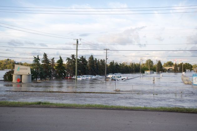 Calgary Lafarge Deerfoot Trail and Southland Flooded Vehicles